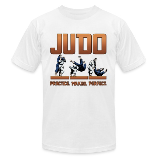 Judo Practice Makes Perfect Design - Unisex Jersey T-Shirt by Bella + Canvas