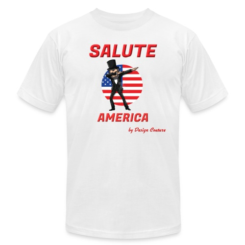 SALUTE AMERICA RED - Men's  Jersey T-Shirt