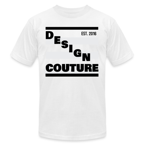 DESIGN COUTURE EST 2016 BLACK - Unisex Jersey T-Shirt by Bella + Canvas
