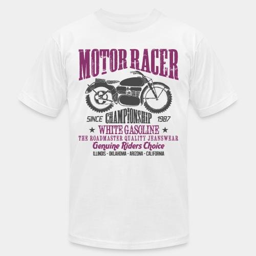 motorcycle biker rider - Unisex Jersey T-Shirt by Bella + Canvas