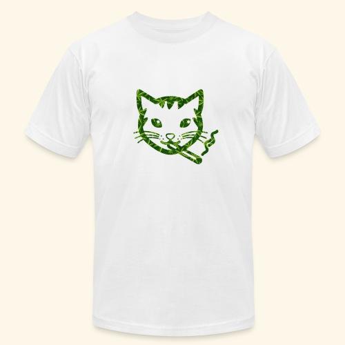 Smoking Cat Design - Unisex Jersey T-Shirt by Bella + Canvas