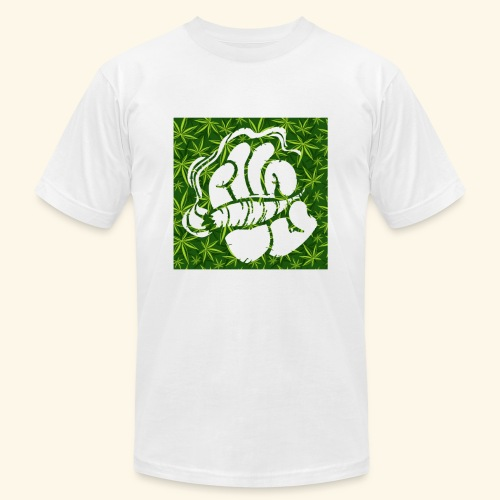 Hand with a joint - smoking weed 420 lifestyle - Unisex Jersey T-Shirt by Bella + Canvas