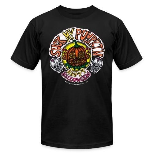 SUCK MY PUMPKIN (MENS T-SHIRT) - Unisex Jersey T-Shirt by Bella + Canvas