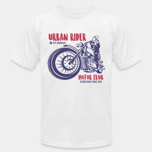 urban rider motorcycle biker - Unisex Jersey T-Shirt by Bella + Canvas