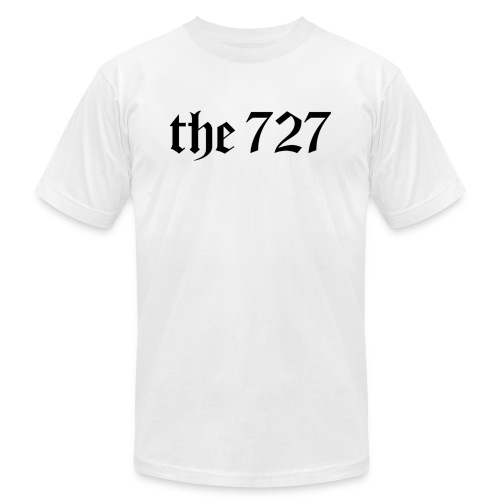 The 727 in Black Lettering - Unisex Jersey T-Shirt by Bella + Canvas