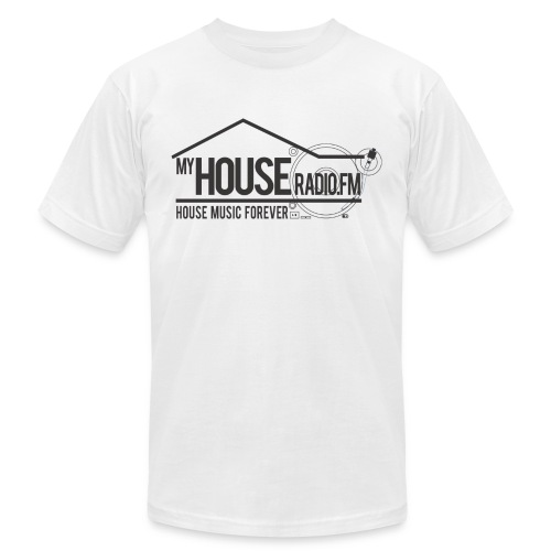 My House Radio Black Logo - Unisex Jersey T-Shirt by Bella + Canvas