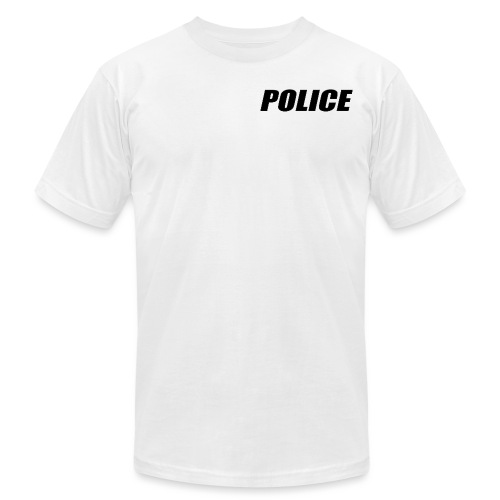 Police Black - Unisex Jersey T-Shirt by Bella + Canvas