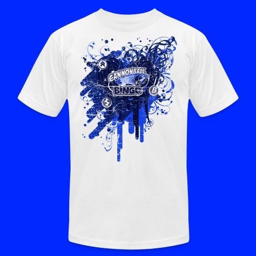 Vintage Cannonball Bingo Drip Blue - Unisex Jersey T-Shirt by Bella + Canvas