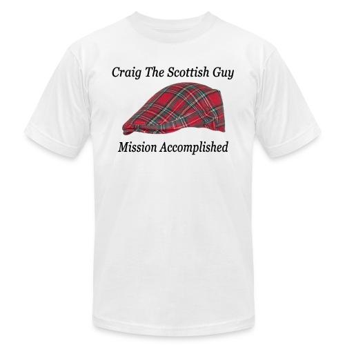 Red Tartan Hat - Men's  Jersey T-Shirt