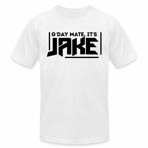G'Day Mate It's Jake Black Logo - Unisex Jersey T-Shirt by Bella + Canvas