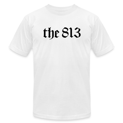The 813 in Black Lettering - Unisex Jersey T-Shirt by Bella + Canvas