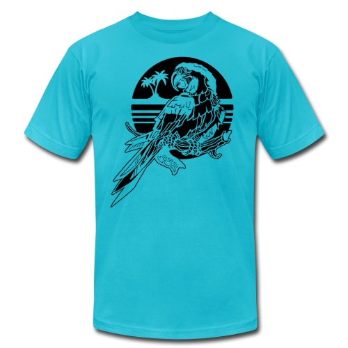 Tropical Parrot - Men's Jersey T-Shirt