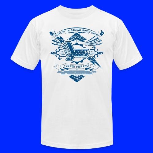 Vintage Leet Sauce Studios Crest Blue - Unisex Jersey T-Shirt by Bella + Canvas