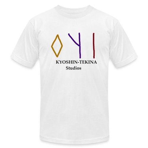 Kyoshin-Tekina Studios logo (black test) - Unisex Jersey T-Shirt by Bella + Canvas