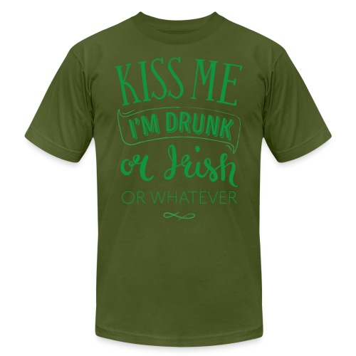 Kiss Me. I'm Drunk. Or Irish. Or Whatever - Men's Jersey T-Shirt