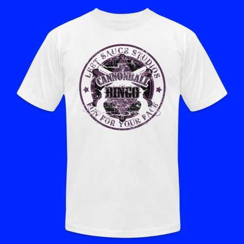 Vintage Cannonball Bingo Badge All Purple - Unisex Jersey T-Shirt by Bella + Canvas