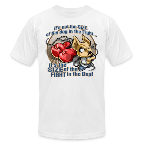 Dog in fight by RollinLow - Unisex Jersey T-Shirt by Bella + Canvas