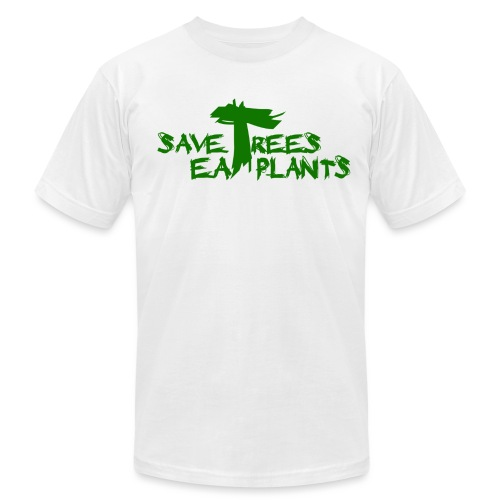 Eat plants, green - Unisex Jersey T-Shirt by Bella + Canvas