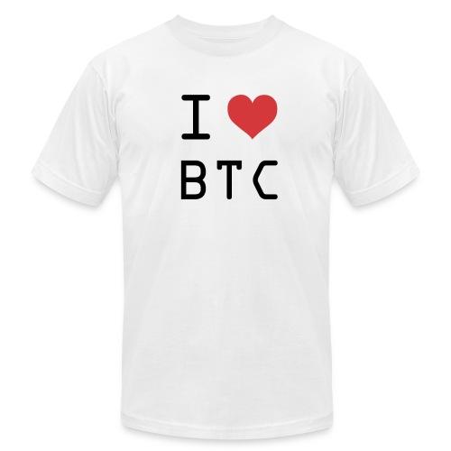 I HEART BTC (Bitcoin) - Men's  Jersey T-Shirt