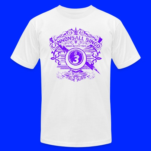 Vintage Cannonball Bingo Crest Purple - Unisex Jersey T-Shirt by Bella + Canvas