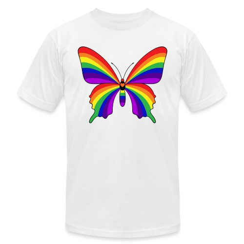 Rainbow Butterfly - Unisex Jersey T-Shirt by Bella + Canvas