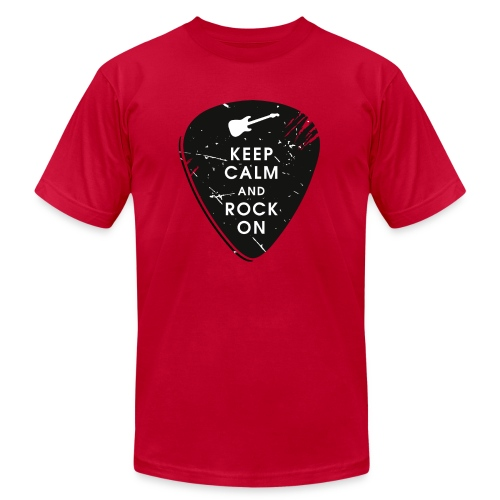 Keep calm and rock on - Unisex Jersey T-Shirt by Bella + Canvas