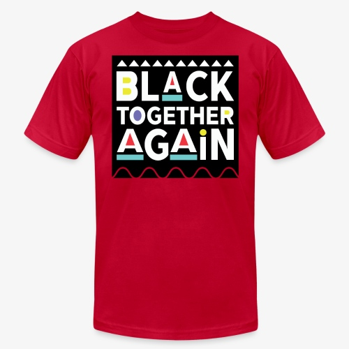 Black Together Again - Unisex Jersey T-Shirt by Bella + Canvas