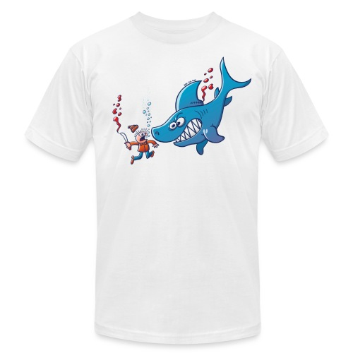 Sharks are Furious, Stop Finning! - Men's Jersey T-Shirt