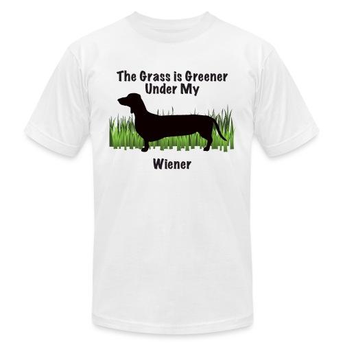 Wiener Greener Dachshund - Unisex Jersey T-Shirt by Bella + Canvas