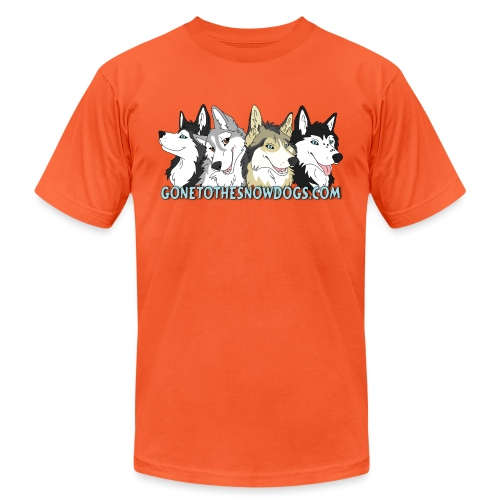 Siberian Husky Snow Dogs - Unisex Jersey T-Shirt by Bella + Canvas