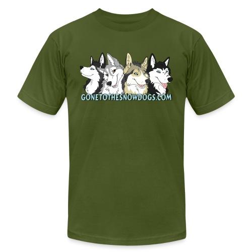 Siberian Husky Snow Dogs - Unisex Jersey T-Shirt by Bella + Canvas