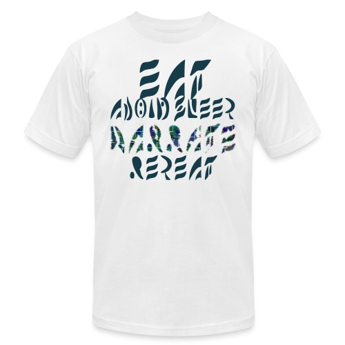 Eat Sleep Narrate Repeat - Unisex Jersey T-Shirt by Bella + Canvas