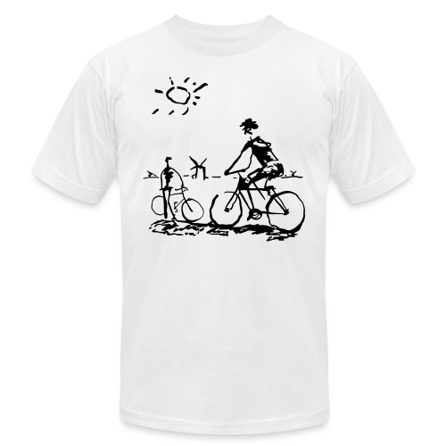 Bicycle Bicycling Picasso - Unisex Jersey T-Shirt by Bella + Canvas
