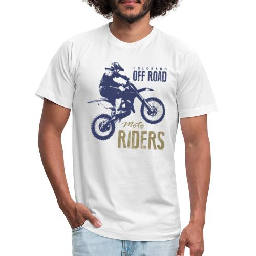 motorcycle off road rider biker - Unisex Jersey T-Shirt by Bella + Canvas