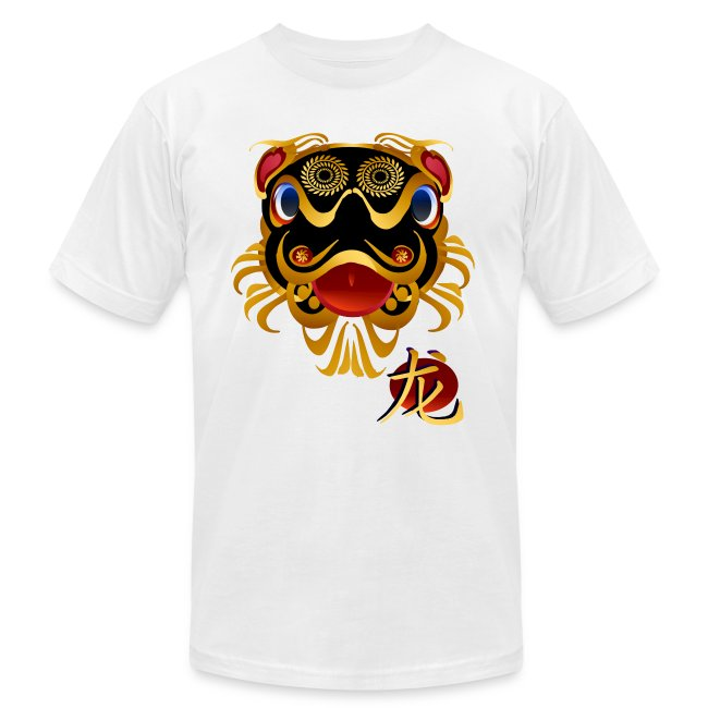 Black n Gold Chinese Dragon 's Face and Symbol