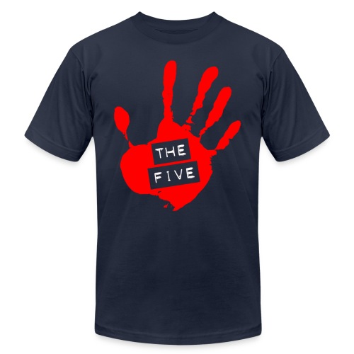 the five logo red on transparent brigh - Unisex Jersey T-Shirt by Bella + Canvas