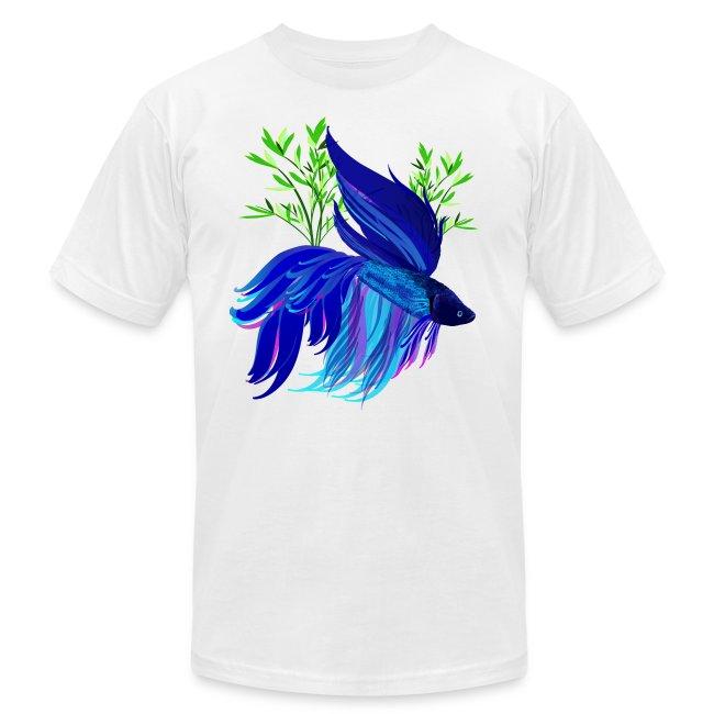Big Blue Siamese Fighting Fish
