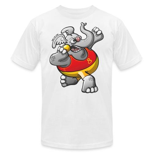 Olympic Shot Put Elephant - Unisex Jersey T-Shirt by Bella + Canvas