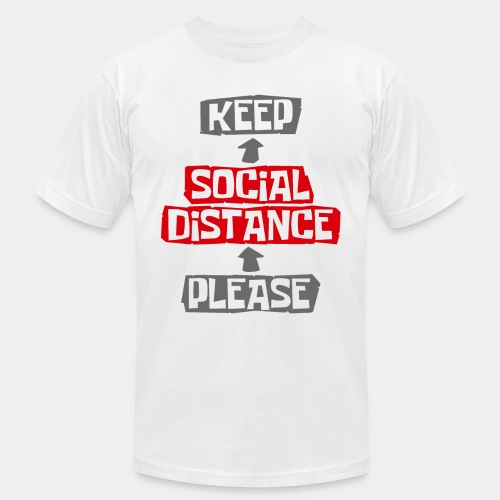 social distance - Unisex Jersey T-Shirt by Bella + Canvas