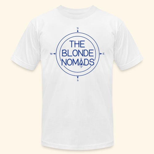 The Blonde Nomads Blue Logo - Unisex Jersey T-Shirt by Bella + Canvas