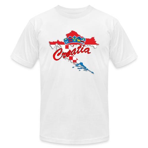 Croatia Football Team Colours T-Shirt Treasure Des - Unisex Jersey T-Shirt by Bella + Canvas