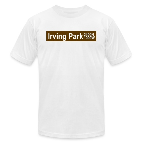 Irving Park CTA Brown Line - Men's Jersey T-Shirt