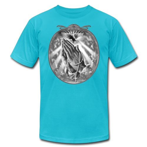 Praying Hands by RollinLow - Unisex Jersey T-Shirt by Bella + Canvas