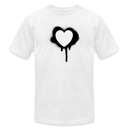 graffiti valentine's day heart - Unisex Jersey T-Shirt by Bella + Canvas