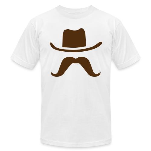 Hat & Mustache - Unisex Jersey T-Shirt by Bella + Canvas