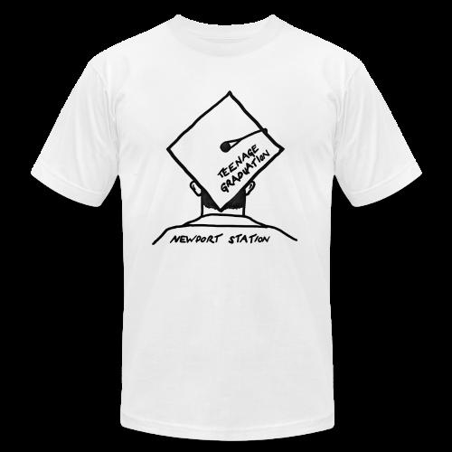 grad cap (etched in black) - Men's  Jersey T-Shirt