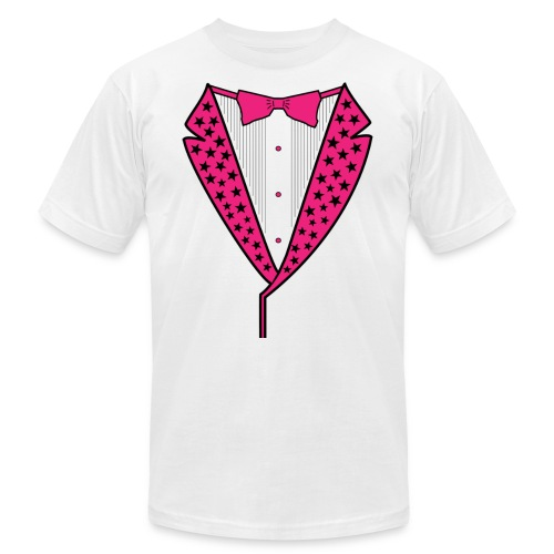 PINK STAR TUXEDO - Unisex Jersey T-Shirt by Bella + Canvas