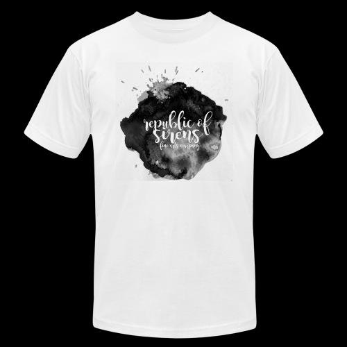 ROS FINE ARTS COMPANY - Black Aqua - Unisex Jersey T-Shirt by Bella + Canvas
