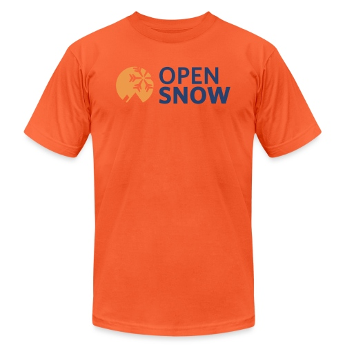 OpenSnow Horizontal Logo - Unisex Jersey T-Shirt by Bella + Canvas
