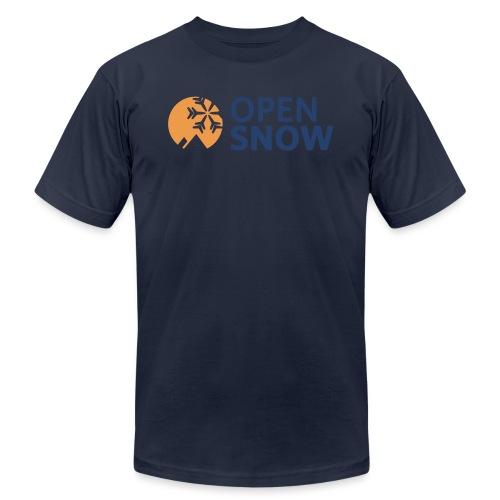 OpenSnow Horizontal Logo - Unisex Jersey T-Shirt by Bella + Canvas